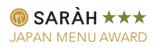 SARAH JAPAN MENU AWARD