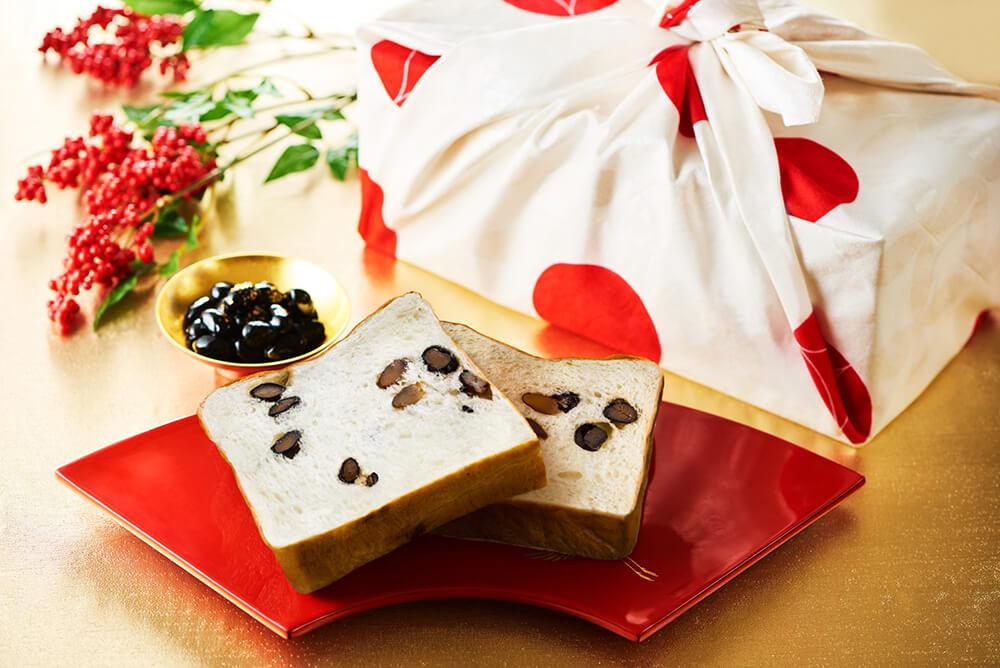 『丹波黒豆と和三盆の食パン(2斤専用BOX・風呂敷付き)』の商品画像