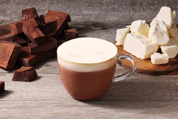 チーズミルクフォームドリンク ハイカカオホットチョコレートのイメージ画像1枚目