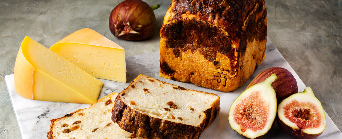 白いちじくとゴーダチーズの食パン